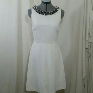 DONNA MORGAN Sleeveless White Dress Size 4